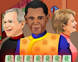 Bush, Obama et Clinton jouant