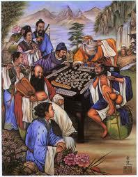 n Chinois jouant le Mahjong