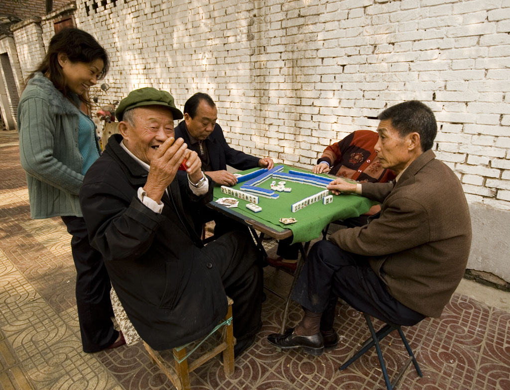 Mahjong pratiquée en Chine