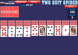 Spider Solitaire 2 Couleurs